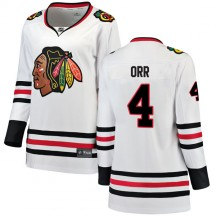 Bobby Orr Chicago Blackhawks Fanatics Branded Women's Breakaway Away Jersey - White