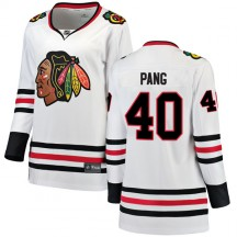 Darren Pang Chicago Blackhawks Fanatics Branded Women's Breakaway Away Jersey - White