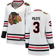 Pierre Pilote Chicago Blackhawks Fanatics Branded Women's Breakaway Away Jersey - White