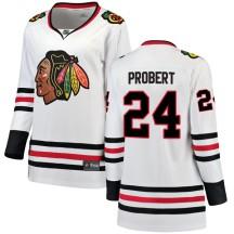 Bob Probert Chicago Blackhawks Fanatics Branded Women's Breakaway Away Jersey - White