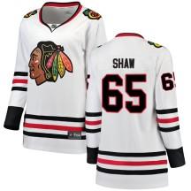 Andrew Shaw Chicago Blackhawks Fanatics Branded Women's Breakaway Away Jersey - White