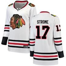 Dylan Strome Chicago Blackhawks Fanatics Branded Women's Breakaway Away Jersey - White