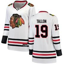 Dale Tallon Chicago Blackhawks Fanatics Branded Women's Breakaway Away Jersey - White