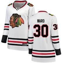 Cam Ward Chicago Blackhawks Fanatics Branded Women's Breakaway Away Jersey - White