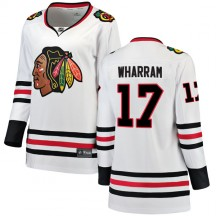 Kenny Wharram Chicago Blackhawks Fanatics Branded Women's Breakaway Away Jersey - White