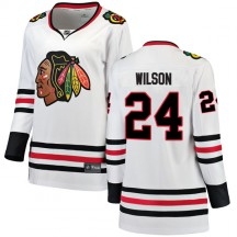 Doug Wilson Chicago Blackhawks Fanatics Branded Women's Breakaway Away Jersey - White