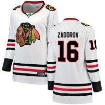 Nikita Zadorov Chicago Blackhawks Fanatics Branded Women's Breakaway Away Jersey - White