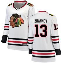 Alex Zhamnov Chicago Blackhawks Fanatics Branded Women's Breakaway Away Jersey - White