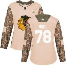 Nathan Noel Chicago Blackhawks Adidas Women's Authentic Veterans Day Practice Jersey - Camo