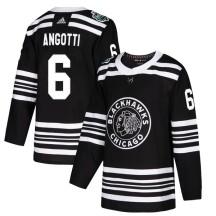 Lou Angotti Chicago Blackhawks Adidas Youth Authentic 2019 Winter Classic Jersey - Black