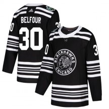 ED Belfour Chicago Blackhawks Adidas Youth Authentic 2019 Winter Classic Jersey - Black