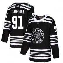Drake Caggiula Chicago Blackhawks Adidas Youth Authentic 2019 Winter Classic Jersey - Black