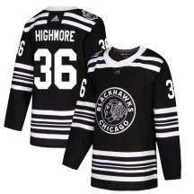 Matthew Highmore Chicago Blackhawks Adidas Youth Authentic 2019 Winter Classic Jersey - Black