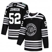 Reese Johnson Chicago Blackhawks Adidas Youth Authentic 2019 Winter Classic Jersey - Black