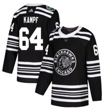 David Kampf Chicago Blackhawks Adidas Youth Authentic 2019 Winter Classic Jersey - Black