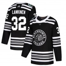 Kevin Lankinen Chicago Blackhawks Adidas Youth Authentic 2019 Winter Classic Jersey - Black