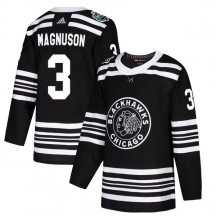 Keith Magnuson Chicago Blackhawks Adidas Youth Authentic 2019 Winter Classic Jersey - Black