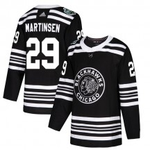 Andreas Martinsen Chicago Blackhawks Adidas Youth Authentic 2019 Winter Classic Jersey - Black