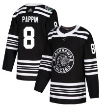 Jim Pappin Chicago Blackhawks Adidas Youth Authentic 2019 Winter Classic Jersey - Black