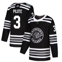 Pierre Pilote Chicago Blackhawks Adidas Youth Authentic 2019 Winter Classic Jersey - Black