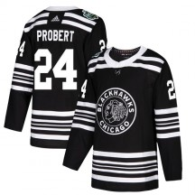 Bob Probert Chicago Blackhawks Adidas Youth Authentic 2019 Winter Classic Jersey - Black