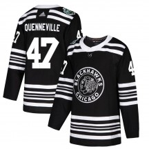 John Quenneville Chicago Blackhawks Adidas Youth Authentic ized 2019 Winter Classic Jersey - Black