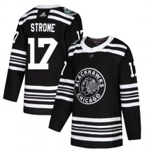 Dylan Strome Chicago Blackhawks Adidas Youth Authentic 2019 Winter Classic Jersey - Black