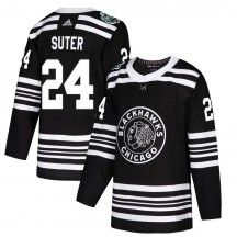 Pius Suter Chicago Blackhawks Adidas Youth Authentic 2019 Winter Classic Jersey - Black