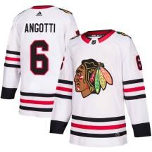 Lou Angotti Chicago Blackhawks Adidas Men's Authentic Away Jersey - White