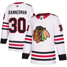 Murray Bannerman Chicago Blackhawks Adidas Men's Authentic Away Jersey - White