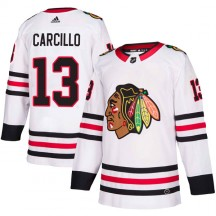 Daniel Carcillo Chicago Blackhawks Adidas Men's Authentic Away Jersey - White