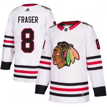 Curt Fraser Chicago Blackhawks Adidas Men's Authentic Away Jersey - White