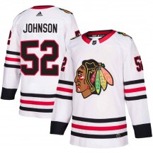 Reese Johnson Chicago Blackhawks Adidas Men's Authentic Away Jersey - White