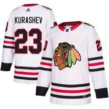 Philipp Kurashev Chicago Blackhawks Adidas Men's Authentic Away Jersey - White