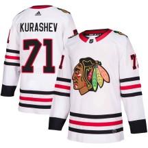 Philipp Kurashev Chicago Blackhawks Adidas Men's Authentic ized Away Jersey - White