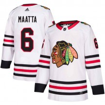 Olli Maatta Chicago Blackhawks Adidas Men's Authentic Away Jersey - White