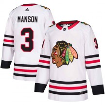 Dave Manson Chicago Blackhawks Adidas Men's Authentic Away Jersey - White