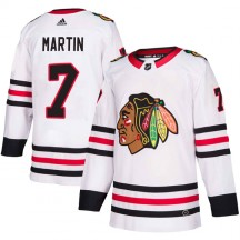 Pit Martin Chicago Blackhawks Adidas Men's Authentic Away Jersey - White