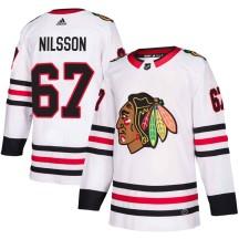 Jacob Nilsson Chicago Blackhawks Adidas Men's Authentic Away Jersey - White