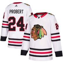Bob Probert Chicago Blackhawks Adidas Men's Authentic Away Jersey - White