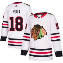 Darcy Rota Chicago Blackhawks Adidas Men's Authentic Away Jersey - White