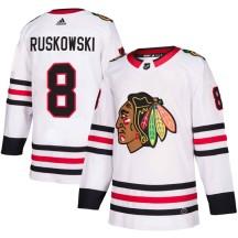 Terry Ruskowski Chicago Blackhawks Adidas Men's Authentic Away Jersey - White