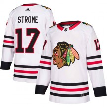 Dylan Strome Chicago Blackhawks Adidas Men's Authentic Away Jersey - White