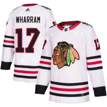 Kenny Wharram Chicago Blackhawks Adidas Men's Authentic Away Jersey - White