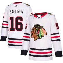 Nikita Zadorov Chicago Blackhawks Adidas Men's Authentic Away Jersey - White