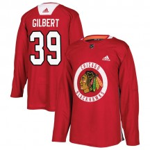 Dennis Gilbert Chicago Blackhawks Adidas Youth Authentic Home Practice Jersey - Red