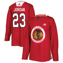 Michael Jordan Chicago Blackhawks Adidas Youth Authentic Home Practice Jersey - Red