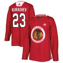 Philipp Kurashev Chicago Blackhawks Adidas Youth Authentic Home Practice Jersey - Red