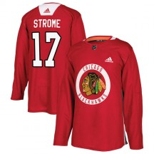 Dylan Strome Chicago Blackhawks Adidas Youth Authentic Home Practice Jersey - Red
