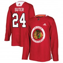Pius Suter Chicago Blackhawks Adidas Youth Authentic Home Practice Jersey - Red